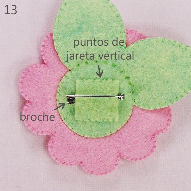 Flor en Fieltro - Coser un Broche by casamagubako.com