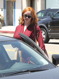 Christina Hendricks, American actress, Melrose Ave, Los Angeles, Los Angeles travel, Los Angeles shopping, Christina Hendricks bikini