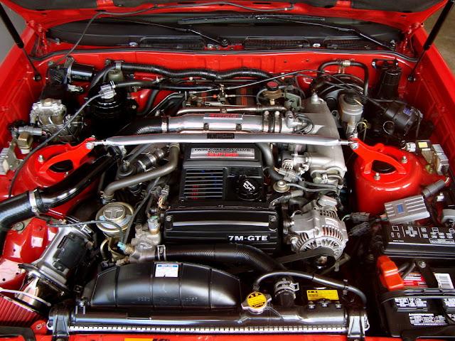 Toyota Supra, MK3, MA70, GA70, JZA70, japoński sportowy samochód, coupe, RWD, R6, silnik, engine 日本車 トヨタ スープラ