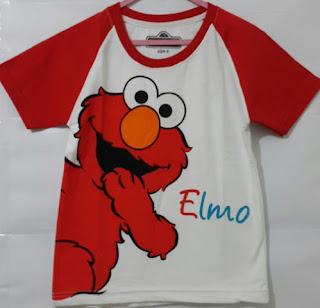 Baju Anak Karakter Elmo Putih Size 1 - 6 Tahun