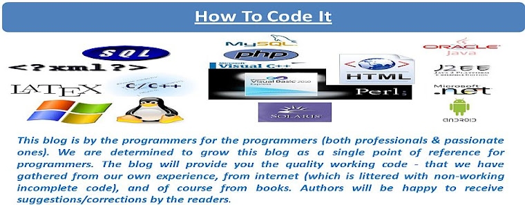 How To Code It