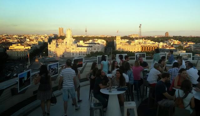 Vistas desde la terraza de la azotea del Círculo de Bellas Artes.