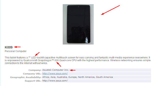 Nexus 7 II Bluetooth SIG Certificate