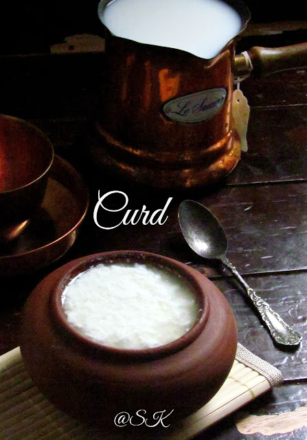home made thick curd / yogurt / dahi  -  step by step