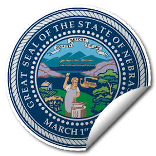 Sticker of Nebraska Seal