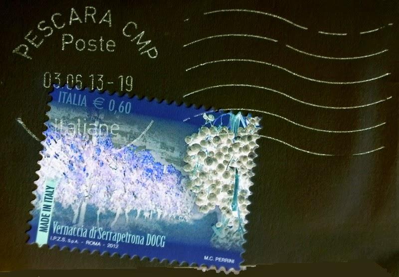 francobollo Vernaccia di Serrapetrona in negativo
