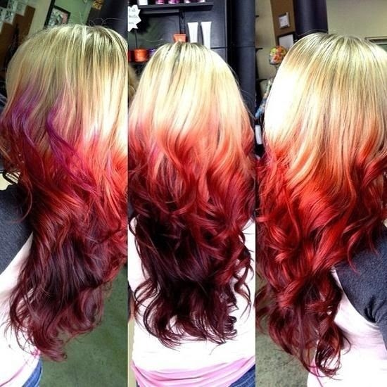 long colored hair