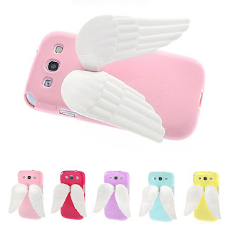 ANGELA Wing Jelly Case for Galaxy S3 III - Angel wings / Easy hand holder cover
