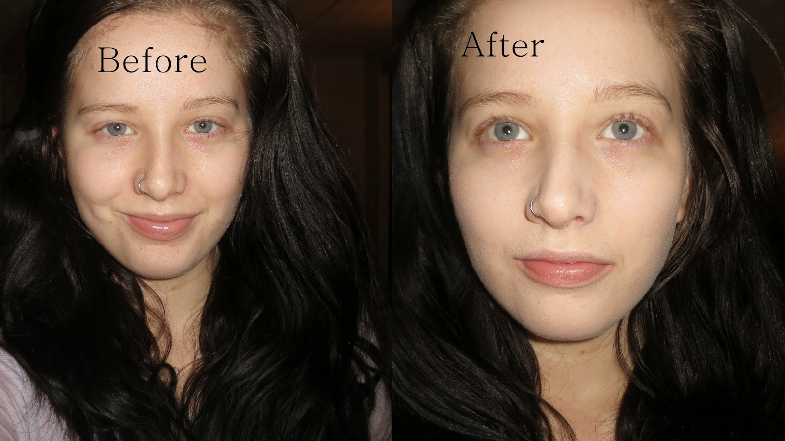 Rimmel Stay Matte Liquid Mousse Foundation before and after
