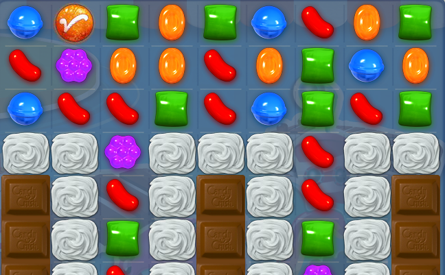 When you match it with other candies of the same colour it will turn