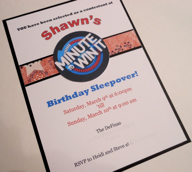 Heidi Scraps Minute To Win It Birthday Party