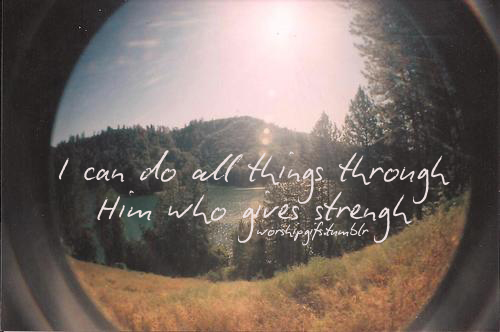 WORD OF THE DAY I CAN DO ALL THINGS THROUGH CHRIST