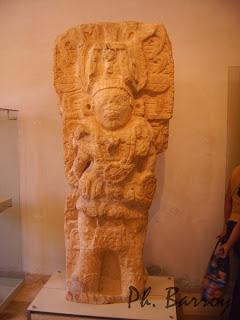 paysages du Mexique Campeche Yucatan statue Maya blog voyage photo