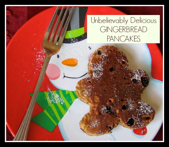Unbelievably Delicious Gingerbread Pancakes!!!
