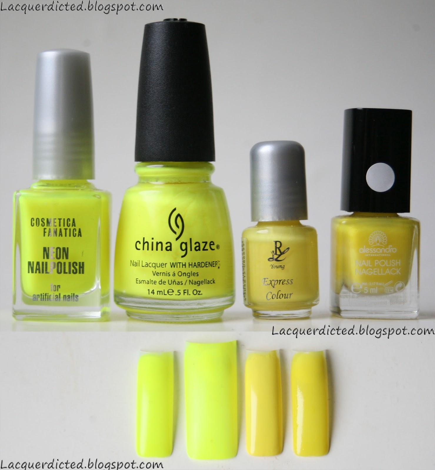 Lacquerdicted: Meine Sammlung - Alle meine gelben Lacke!