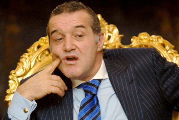 Steaua București owner Gigi Becali is a controversial and outspoken politician in Romania