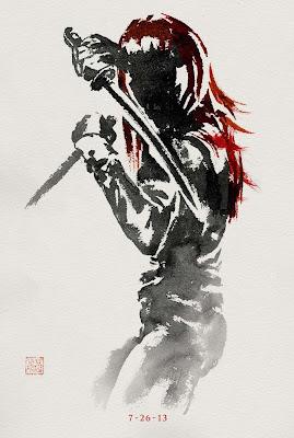 The Wolverine Sumi-e Character Movie Posters - Rila Fukushima as Yukio