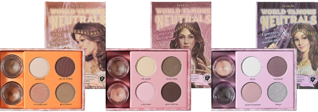 The Best NUDE/NEUTRAL Eyeshadow Palettes EVER.Benefit:World Famous Neutrals: Most Glamorous Nudes Ever, Easiest Nudes Ever, Sexiest Nudes Ever.Najbolje senke za oci- neutralne boje.