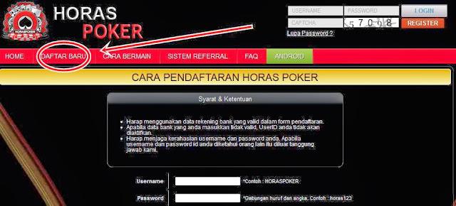 Cara Daftar Horas Poker