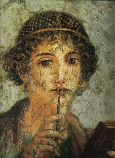 Safo - Fresco de la ciudad de Pompeya