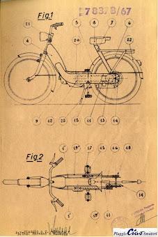 brevetto piaggio ciao 1967