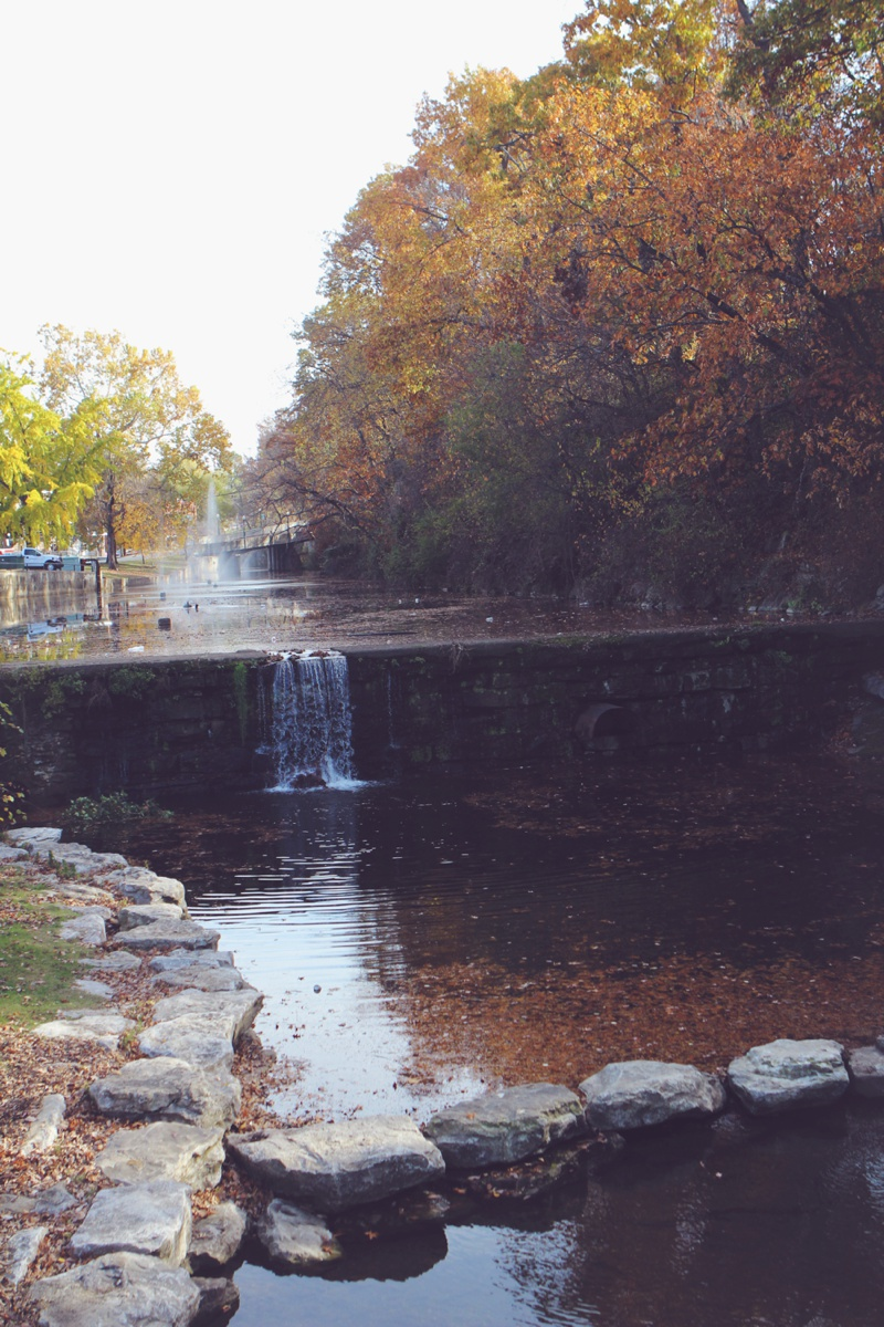 Siloam Springs Arkansas downtown in fall