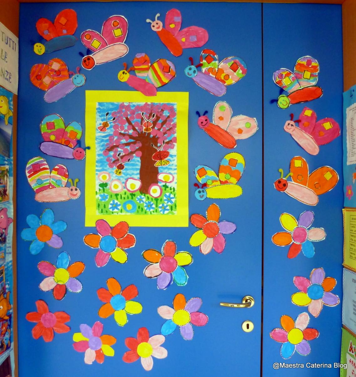 Maestra caterina porta di primavera for Addobbare la porta dell aula