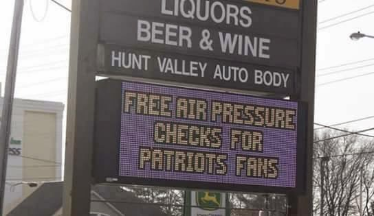 Free air pressure checks for patriots fans
