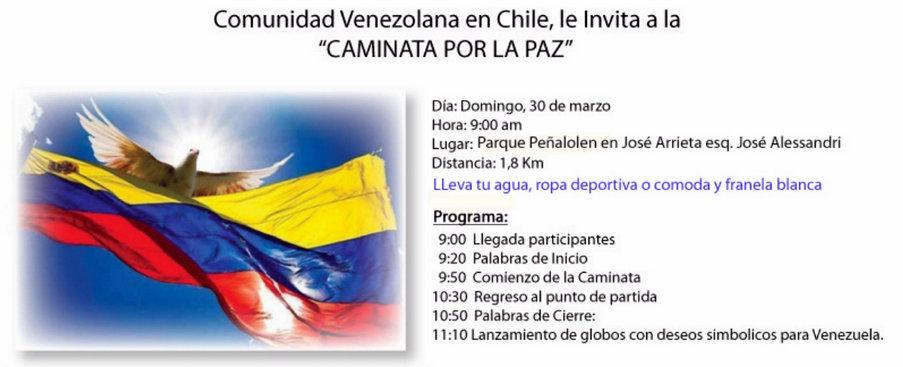 Caminata por la Paz SOSVenezuela Chile