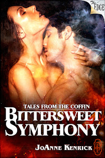 Bittersweet Symphony is a friends to lovers paranormal ghost story set in Ross-On-Wye by bestselling author JoAnne Kenrick and belongs in the Tales from the Coffin series with Decadent Publishing