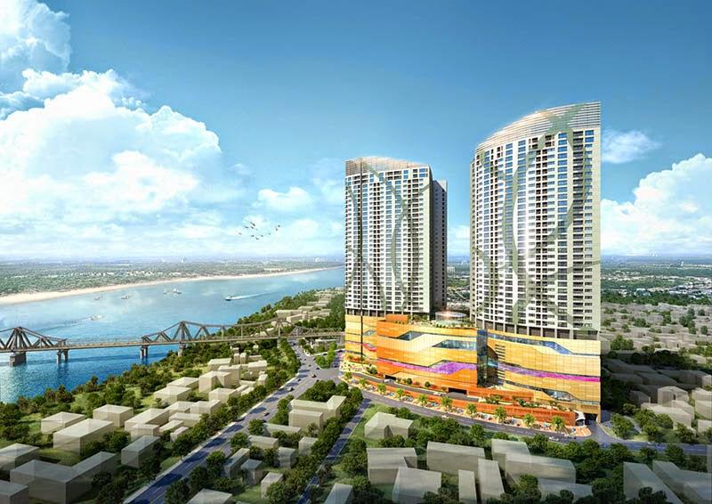 Phối cảnh tổng thể dự án chung cư Mipec Riverside