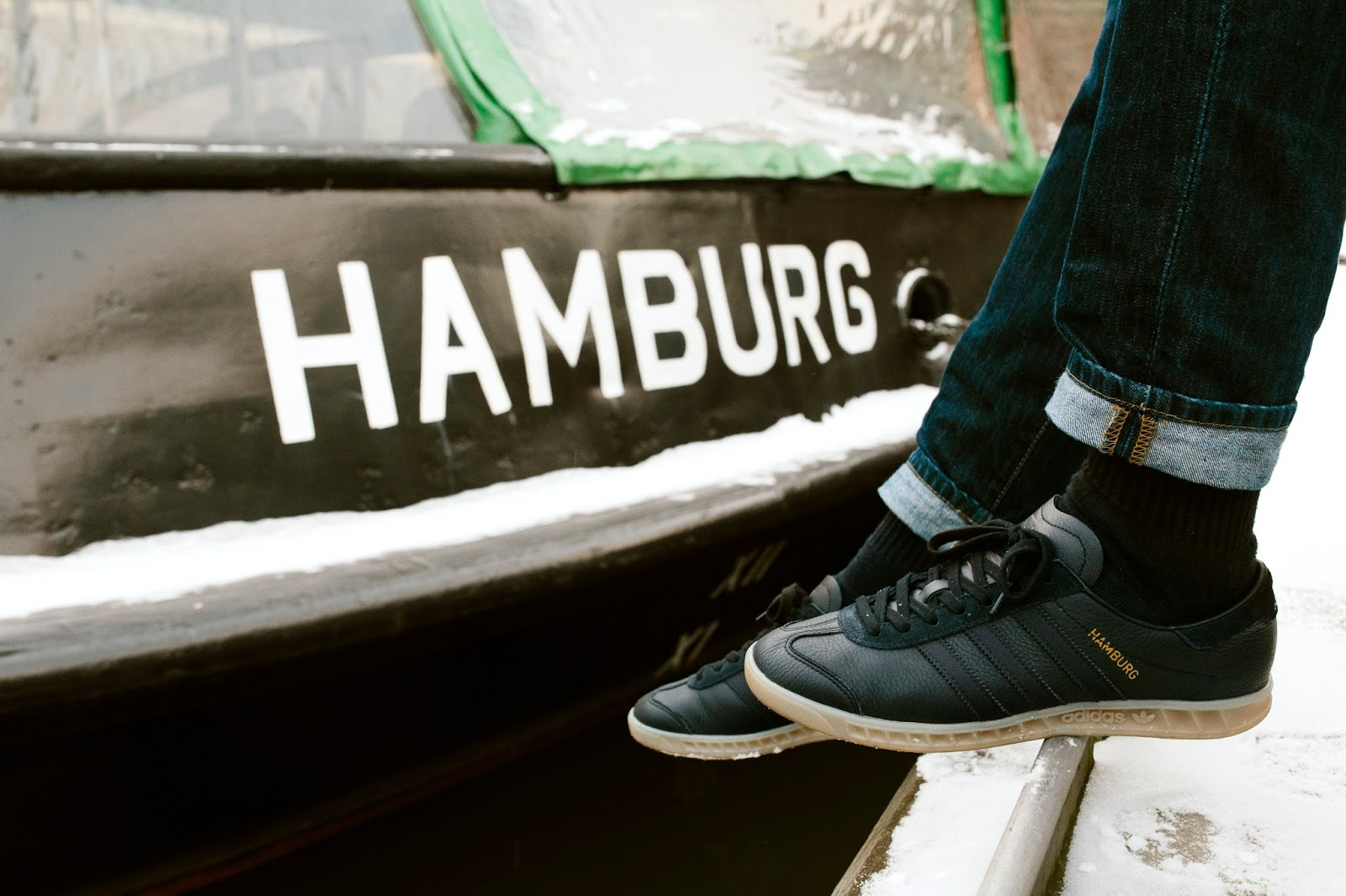 adidas hamburg on feet