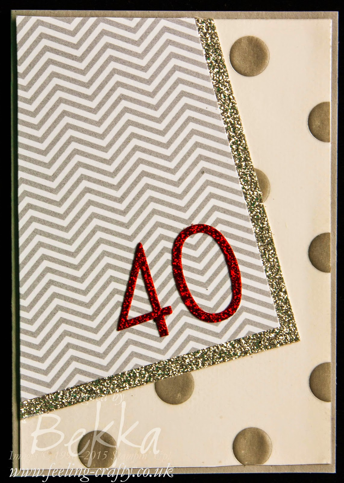 Glitz & Glamour 40th Birthday Card - check this card for lots of cute ideas