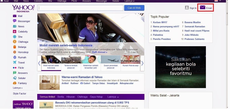 yahoo+home - Cara Menciptakan Email Lewat Yahoo Mail Dan Gmail