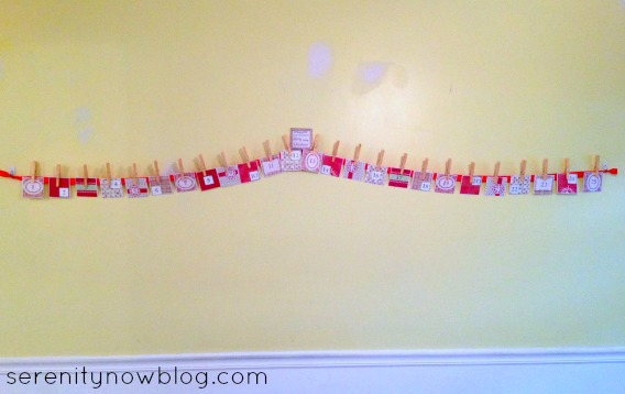 DIY Ribbon and Envelope Christmas Advent Calendar, Serenity Now blog