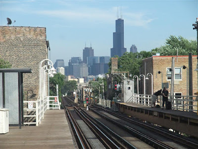 chicago daman train stop, city