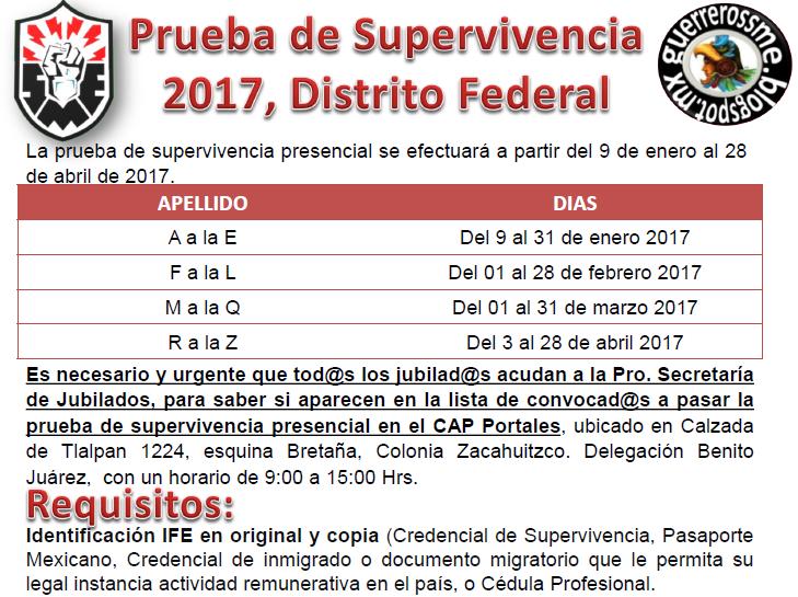 SME Jubilados Prueba de Supervivencia 2017