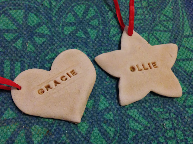 salt dough christmas tags with names