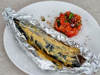 Maquereaux à la moutarde et tartare de tomates aux aromates