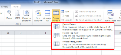 Excel lock row tutorial