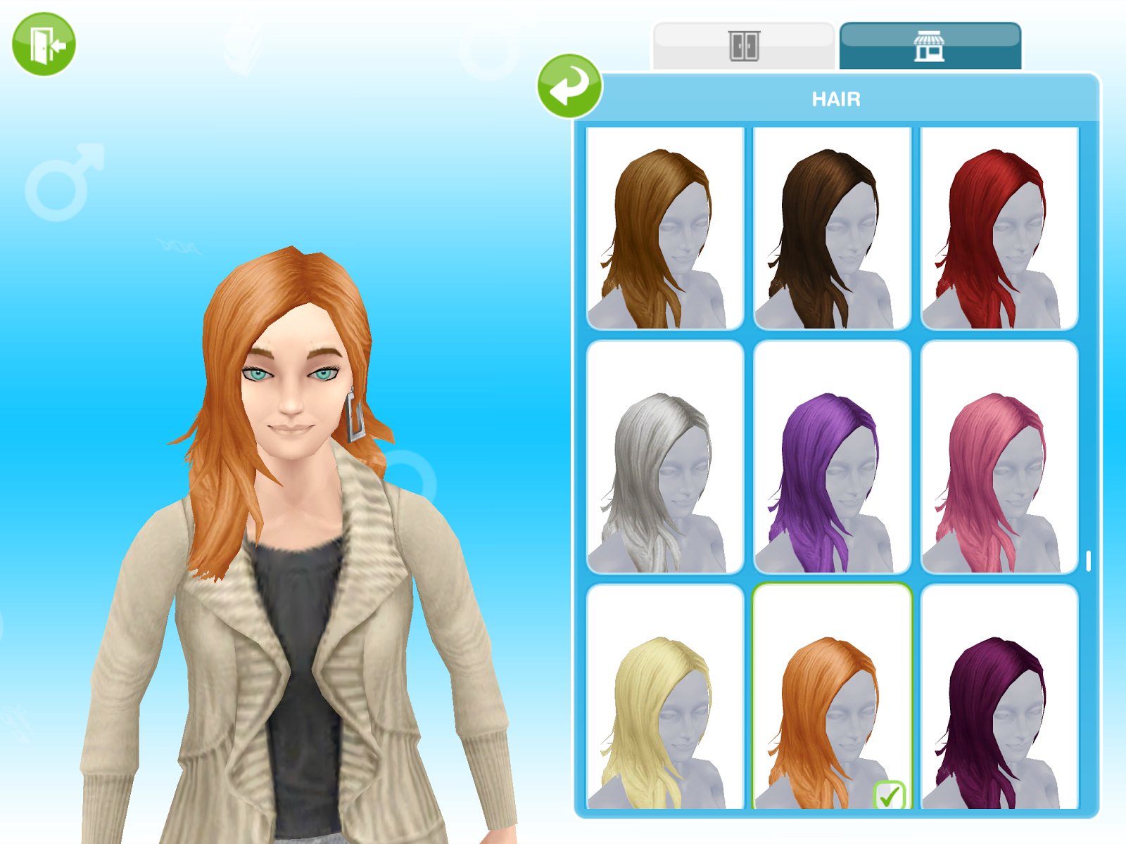 The sims freeplay long hairstyle - Side Part Hairstyle