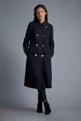 Wallis W Navy Military Coat
