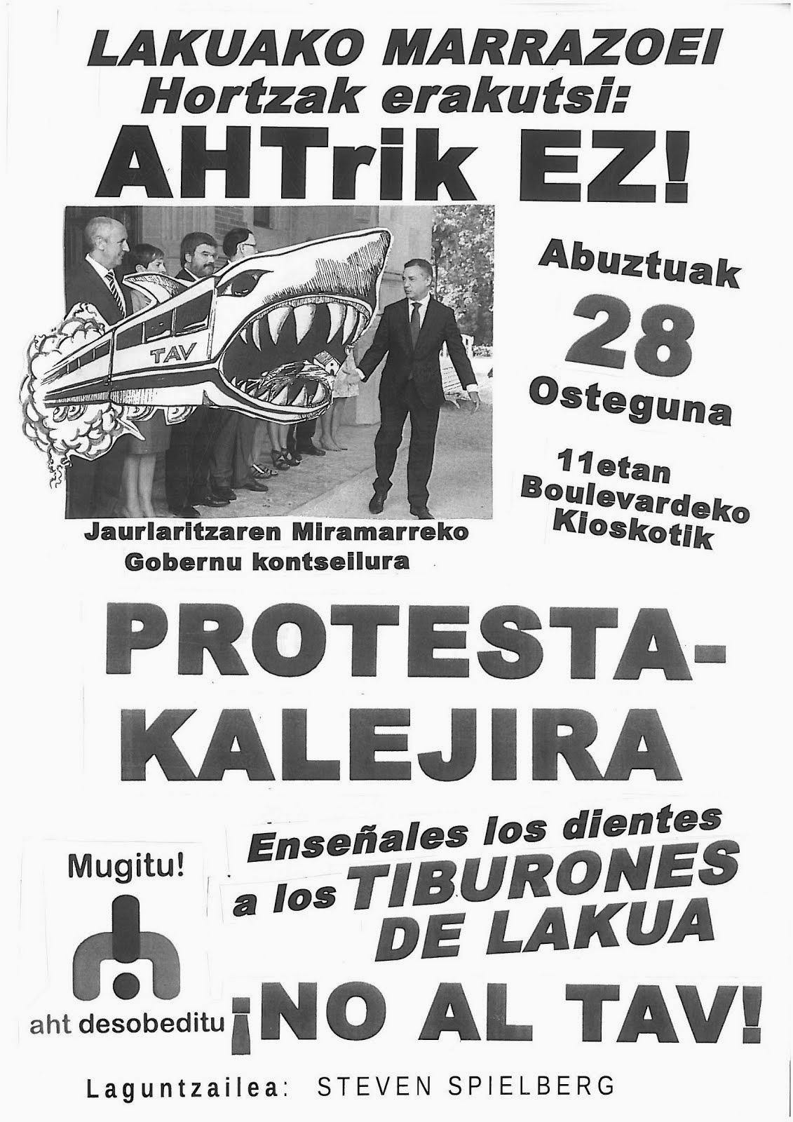 AHTren aurkako Protesta-Kalejira