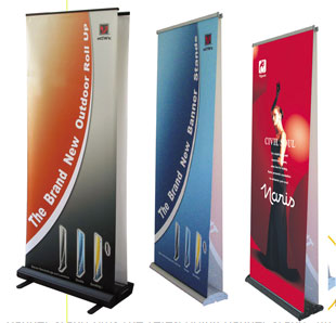 Advertising Advice from a Genius: Ordering Banner Stands Online