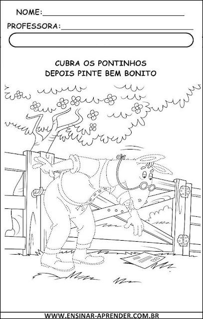 ATIVIDADES PONTILHADAS DO SÍTIO DO PICA PAU