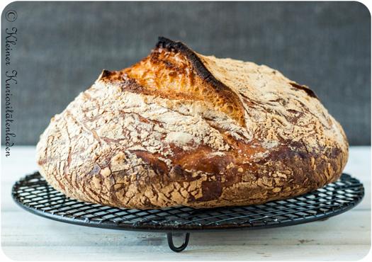 No Knead Bread mit 450 g Mehl