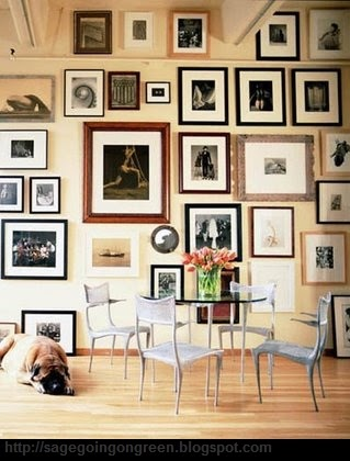 Ren e finberg 39 tells all 39 in her blog of her adventures - Arranging pictures on a wall ...