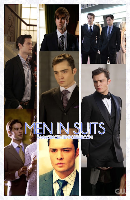 Chuck Bass, Gossip Girl men in suits Grace Intemporelle