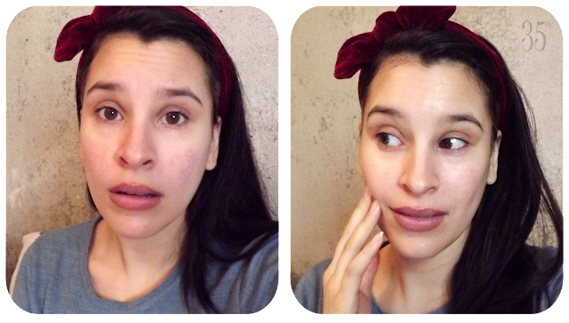 The Face Shop Real Nature Sheet Mask in Blueberry before and after