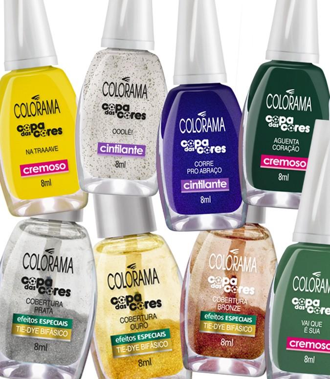 Novas cores esmaltes Colorama 2014 Copa das Cores